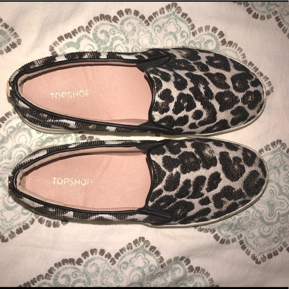 54ac247cb537 Topshop Shoes | Tucker Leopard Print Slipon Sneaker | Poshmark